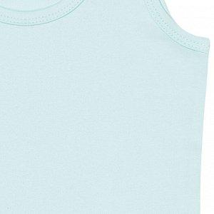 Комплект (майки 2 шт) для девочки, св.голубой, ваниль