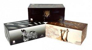 "Салфетки в коробке  INSHIRO SilkFlower ""Animal collection""   2-х. сл.белые 250 шт"