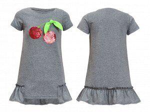 Платье для девочки (цвет серый)
