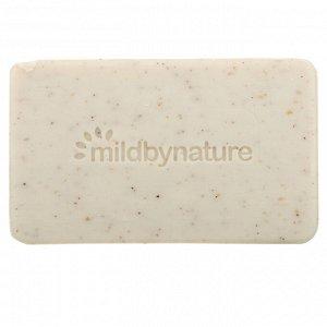 Mild By Nature, Кусковое мыло для отшелушивания с маслами марулы и таману и маслом ши, без запаха, 141 г (5 унций)