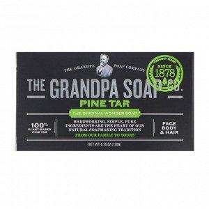 Grandpa&#x27 - s, Мыло для лица, тела и волос, хвойная смола, 120 г