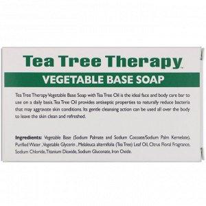 Tea Tree Therapy, Мыло на растительной основе, с маслом чайного дерева, брусок 110 г (3,9 унции)