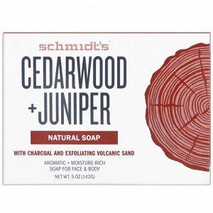 Schmidt&#x27 - s, Natural Soap, Cedarwood +Juniper, 5 oz (142 g)
