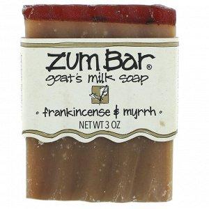 Indigo Wild, Zum Bar, мыло с козьим молоком, ладан и мирра, 3 унции, 1 шт.