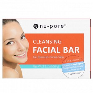 Nu-Pore, Cleansing Facial Bar for Blemish-Prone Skin, 3.5 oz (100 g)