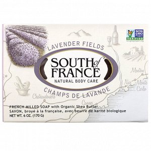 South of France, Lavender Fields, French Milled Soap with Organic Shea Butter, 6 oz (170 g)