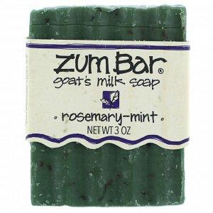 Indigo Wild, Zum Bar, мыло с козьим молоком, розмарин и мята, кусок весом 3 унции