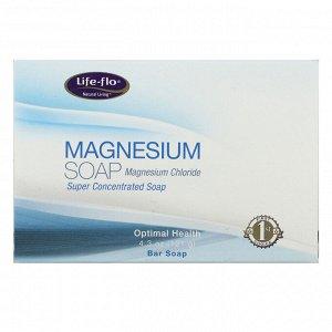 Life-flo, Магниевое мыло, магния хлорид, суперконцентрированное кусковое мыло, 4,3 унции (121 г)