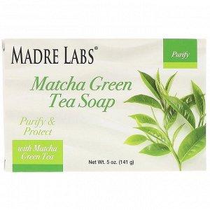 Madre Labs, Зеленый чай матча, кусковое мыло, с розмарином, марулой и арганой, 5 унций (141 г)