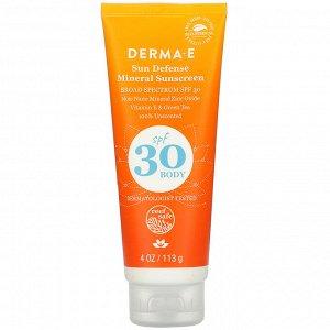 Derma E, Sun Defense Mineral Sunscreen, SPF 30, 4 oz (113 g)
