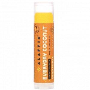 Alaffia, Everyday Coconut, Vegan Lip Balm, Coconut Pineapple, 0.15 oz (4.25 g)