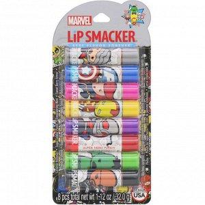 Lip Smacker, Набор бальзамов для губ Marvel Avengers, Party Pack, 8 штук