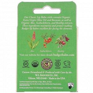 Badger Company, Органические классические карандаши-бальзам для губ, зеленая коробка, 4 карандаша-бальзама, 4,2 г (0,15 унции) каждый
