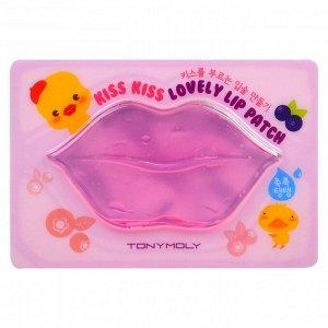 Tony Moly, Салфетка для ухода за губами Kiss Kiss Lovely Lip, 1 шт.