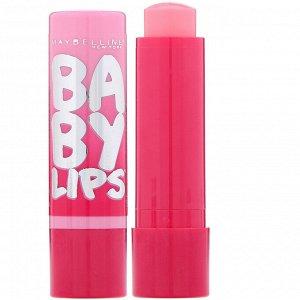 Maybelline, Baby Lips, бальзам-блеск для губ, оттенок «розовый» 01, 3,9 г