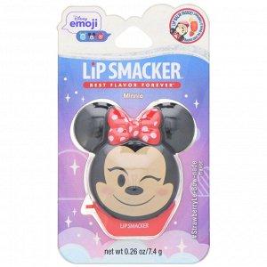 Lip Smacker, Disney Emoji, Minnie, бальзам для губ, клубничный, 7,4 г (0,26 унции)
