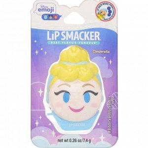 Lip Smacker, Бальзам для губ Disney Emoji, Cinderella, ягодный, 7,4 г