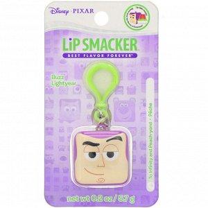 Lip Smacker, Бальзам для губ в кубике Pixar, Buzz Lightyear, персиковый, 5,7 г