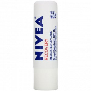 Nivea, Recovery, Medicated Lip Protectant & Sunscreen, SPF 15, 0.17 oz (4.8 g)