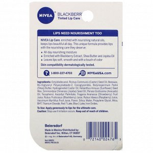 Nivea, Tinted Lip Care, Blackberry, 2 Pack, 0.17 oz (4.8 g) Each