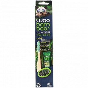 Woobamboo, Набор для ухода за ротовой полостью Eco-Awesome, 1 набор