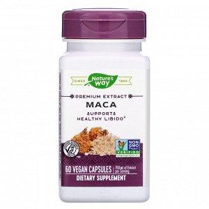 Nature&#x27 - s Way, Premium Extract, Maca, 350 mg, 60 Vegan Capsules