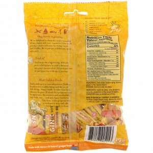 The Ginger People, Gin Gins, Chewy Ginger Candy, Spicy Turmeric, 5.3 oz (150 g)