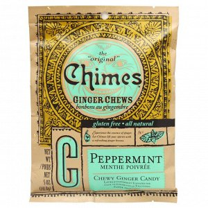 Chimes, Ginger Chews, Peppermint, 5 oz (141.8 g)