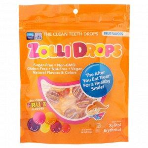Zollipops, Леденцы Zolli, леденцы для чистки зубов, фруктовые вкусы, более 15 леденцов Zolli, 1,6 унций