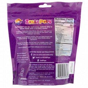 Zollipops, Леденцы для чистых зубов, виноград, 15 леденцов ZolliPops, 3,1 унции