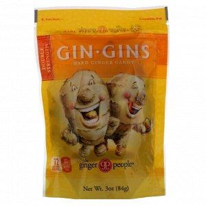 The Ginger People, Gin Gins, леденцы с имбирем, двойная сила, 3 унц. (84 г)