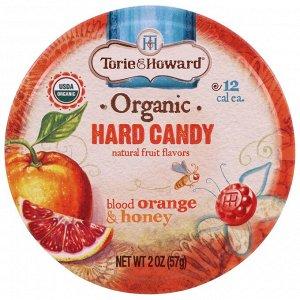 Torie & Howard, Органические леденцы, красный апельсин и мед, 57 г (2 унции)