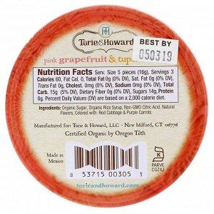 Torie & Howard, Органические леденцы, розовый грейпфрут и мед Тупело, 57 г (2 унции)