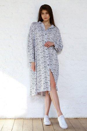 Платье - рубашка Оверсайз