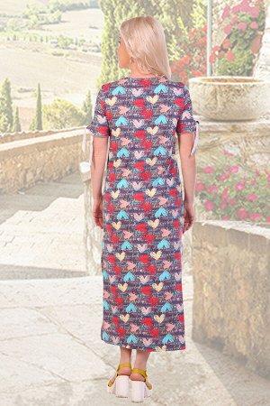 Платье Бренд: Натали Ткань: кулирка Состав: 100% хлопок Платье женское .накладные карманы.рукава с завязками,разрезы.