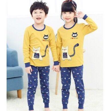 Бельё для всей семьи - детям, подросткам, папам, мамам — Детские пижамы с длинным рукавом — Одежда для дома