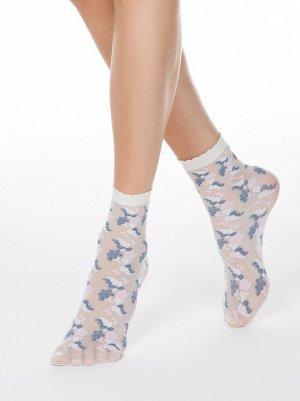 Тонкие носки FANTASY с имитацией цветочной вышивки