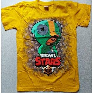 Подростковая футболка Brawl Stars 1071  желтая