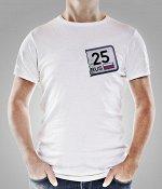 "Футболка ""25-й регион"" M белая"