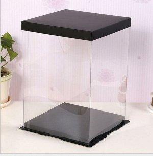 Коробка для мишки из роз. Картонное дно, крышка и пластиковая основа. Высота 40,5 см., ширина 32 см.