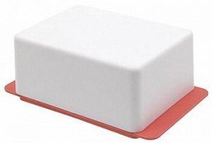 Масленка Масленка [KRITA] КОРАЛЛ. Размер149,5 х 90 х 58,7 мм.Пластмассовая посуда гораздо практичнее, чем металлическая или стеклянная. Масленка Krita не погнётся, не треснет и не разобьётся на осколк