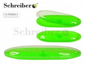 Пластиковый футляр для ручки с прозрачной крышкой, 17х4,5см, цвет САЛАТОВЫЙ флуоресцентный Производство Россия