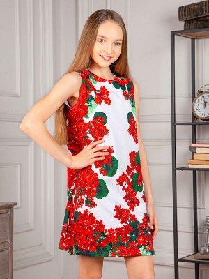 """Платье """"Мальва"""",красно-белый"""
