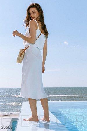 Костюм топ и юбка из летящей ткани