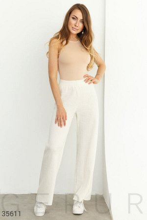 Вязаные белые хлопковые брюки