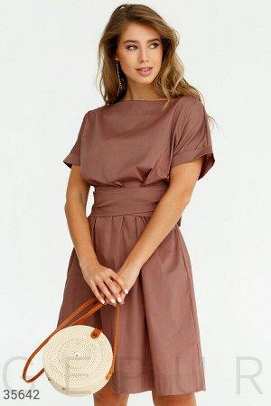Платье oversize с широким поясом