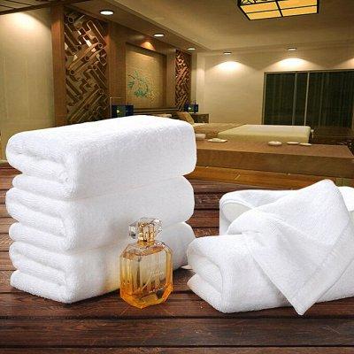 Наборы полотенец - от 180 руб.! Пледы, простыни — Полотенца для гостиниц и отелей - белые — Полотенца