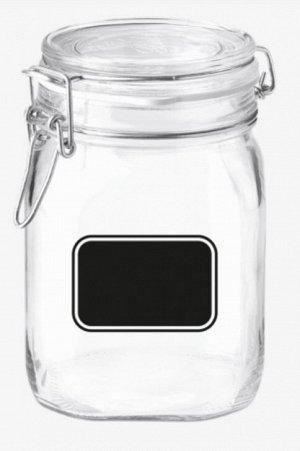 "Bormioli"" Fido Lavanga Банка для хранения с клипсой 1000мл, 10,6x16см"