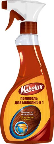 Mebelux 5в1 Полироль для мебели для любых поверхностей 500мл /12/ 03235 6