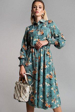 Платье Рафаэлла цвет зеленый (П-208-4)